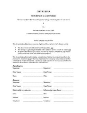 FREE Download A Gift Letter