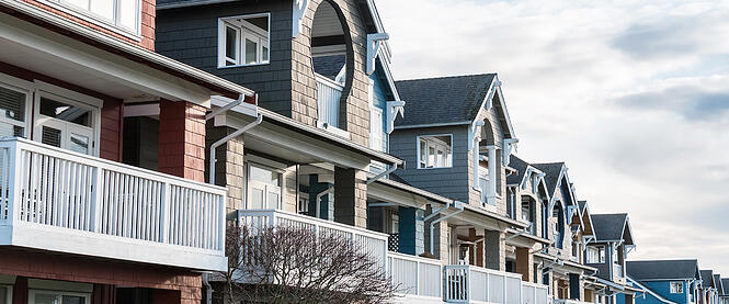 Row housing often makes affordable rental property in Alberta