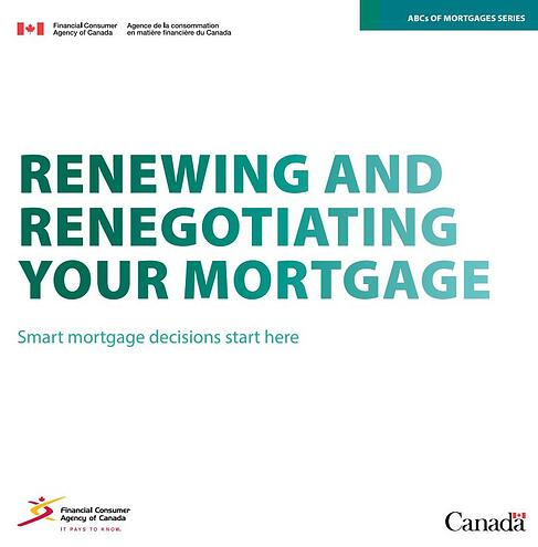 Renew Your Mortgage Guide FCAC